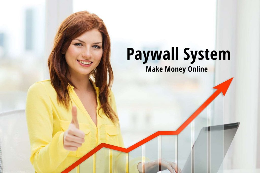 Paywall system to make money