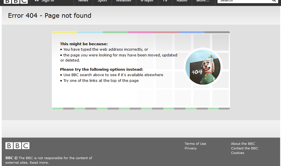 404 error reasons