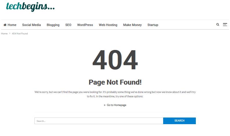 404 error specific choice